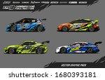 car wrap graphic design vector... | Shutterstock .eps vector #1680393181