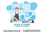 stay at home awareness social... | Shutterstock .eps vector #1680400564