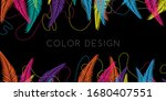 trendy colorful background.... | Shutterstock .eps vector #1680407551