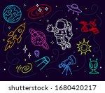 vector creative neon... | Shutterstock .eps vector #1680420217