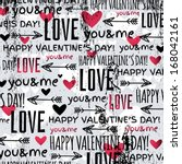 background with  red valentine... | Shutterstock .eps vector #168042161