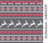 Vintage Christmas Pattern With...