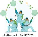 people in hazmat suits and... | Shutterstock .eps vector #1680423961