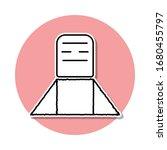 grave sticker icon. simple thin ...