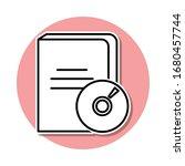 audio book sticker icon. simple ...