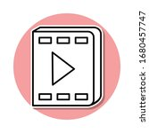 video book sticker icon. simple ...