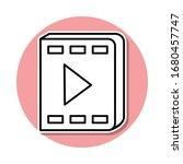 video book sticker icon. simple ...