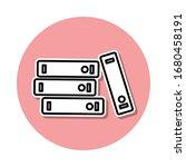 books sticker icon. simple thin ...