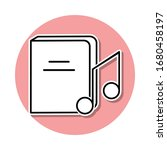 music book sticker icon. simple ...