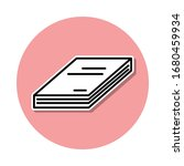 book sticker icon. simple thin...