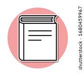 book sticker icon. simple thin...