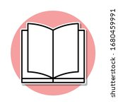 open book sticker icon. simple...