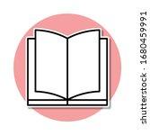open book sticker icon. simple...
