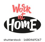 work at home hand drawn vector... | Shutterstock .eps vector #1680469267