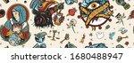 coronavirus seamless pattern.... | Shutterstock .eps vector #1680488947