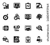 16 analysis filled icons set... | Shutterstock .eps vector #1680495964