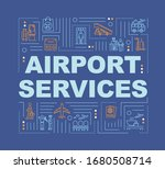 airport services word concepts...