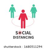 social distancing. keep the 1 2 ... | Shutterstock .eps vector #1680511294
