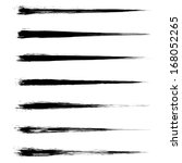 vector set of grunge brush... | Shutterstock .eps vector #168052265