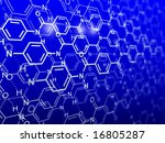 chemical background - stock photo
