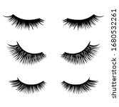 long black lashes vector set.... | Shutterstock .eps vector #1680532261