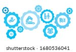 connected gears and vector... | Shutterstock .eps vector #1680536041
