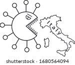coronavirus covid 19 viral... | Shutterstock .eps vector #1680564094