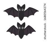 cute cartoon bat illustration.... | Shutterstock .eps vector #1680564274