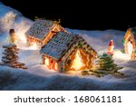 small gingerbread cottage in... | Shutterstock . vector #168061181