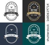 set of retro vintage design....   Shutterstock .eps vector #1680619714
