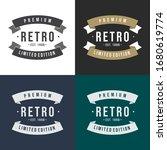 set of retro vintage design.... | Shutterstock .eps vector #1680619774