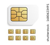 realistic global phone card... | Shutterstock .eps vector #1680623491