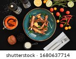 Appetizing Food Laid Out On A...