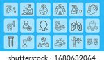 health care line icon set on... | Shutterstock .eps vector #1680639064