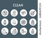 clean line icon set on theme...   Shutterstock .eps vector #1680639124