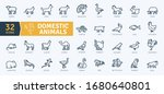 domestic animals icons pack....   Shutterstock .eps vector #1680640801