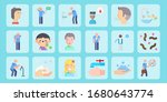 children flat icon set on theme ... | Shutterstock .eps vector #1680643774