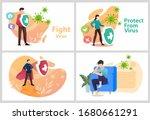 sets vector illustration fight... | Shutterstock .eps vector #1680661291