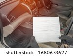 Small photo of Technician change air filter in cooling system check dust and amiss in Passenger car of car service concept