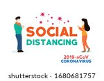 people who social distancing... | Shutterstock .eps vector #1680681757