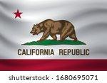 waving flag of california....   Shutterstock .eps vector #1680695071