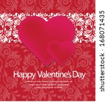 valentines day card | Shutterstock .eps vector #168071435
