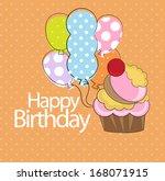 birthday card | Shutterstock .eps vector #168071915