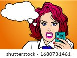 young redhair woman taking... | Shutterstock .eps vector #1680731461