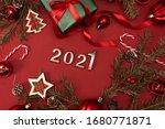 Happy New Year 2021. Golden...