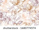 elegant seamless pattern with... | Shutterstock .eps vector #1680774574