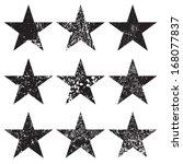 grunge stars | Shutterstock .eps vector #168077837