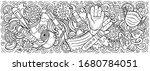 coronavirus hand drawn cartoon... | Shutterstock .eps vector #1680784051