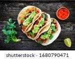 Homemade Vegan Tacos With Black ...