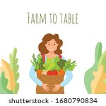 eat local organic products... | Shutterstock .eps vector #1680790834
